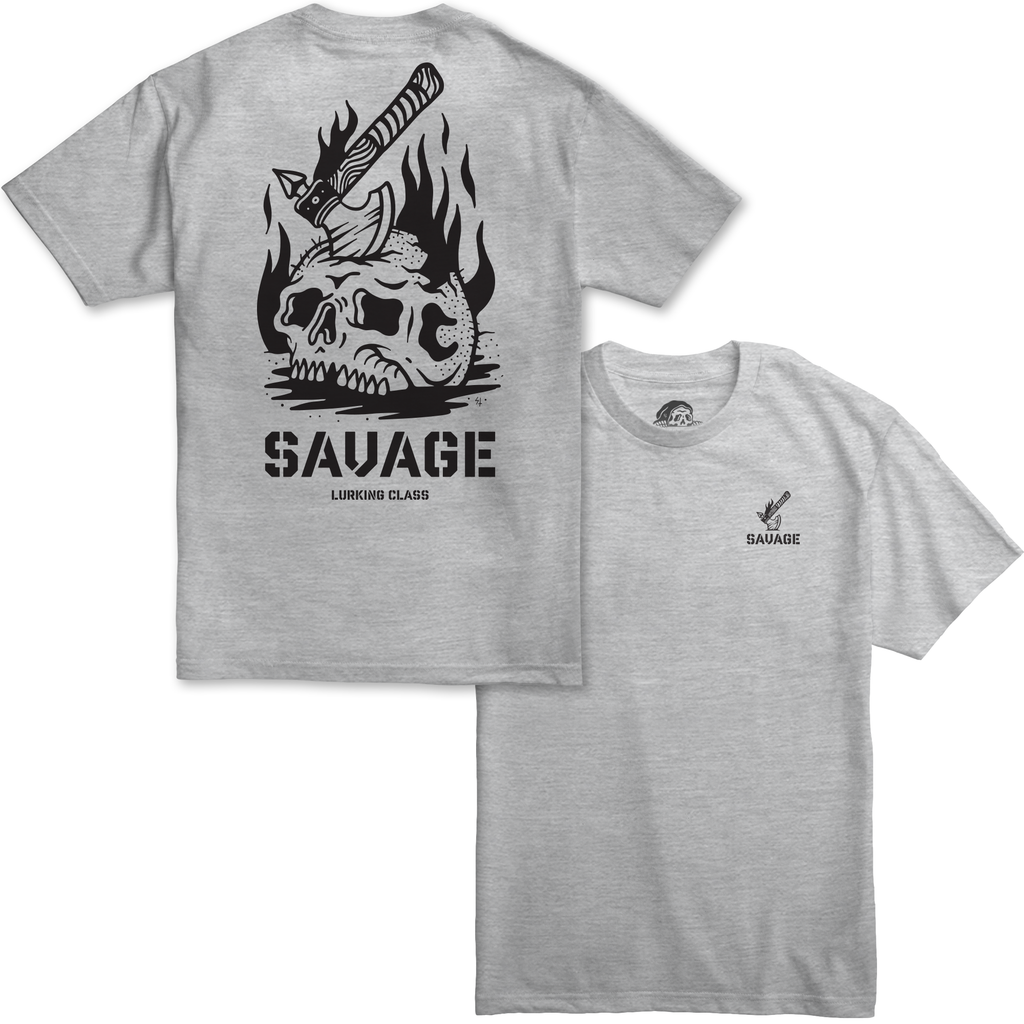 Savage Heather Grey T-Shirt | Lurking Class by Sketchy Tank