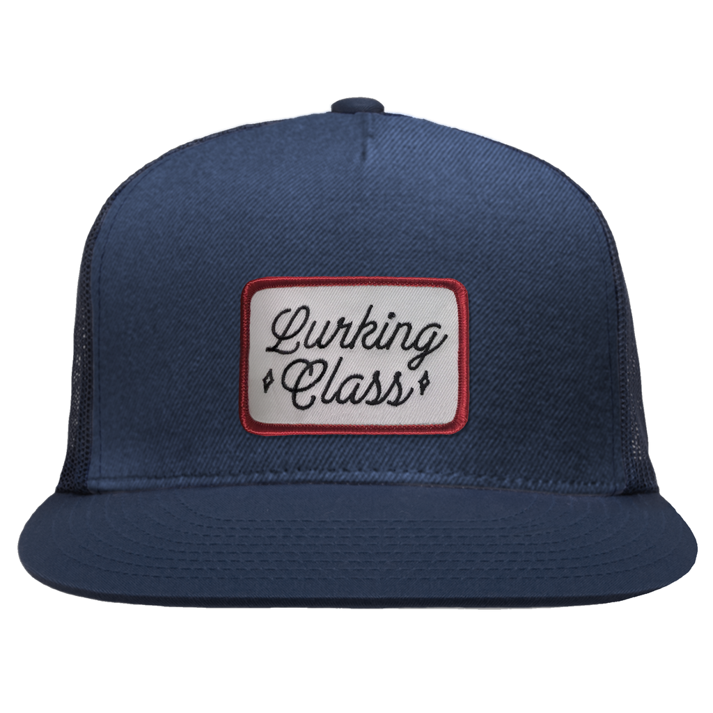 Script Snapback Mesh Hat - Navy / Red | Lurking Class by Sketchy Tank