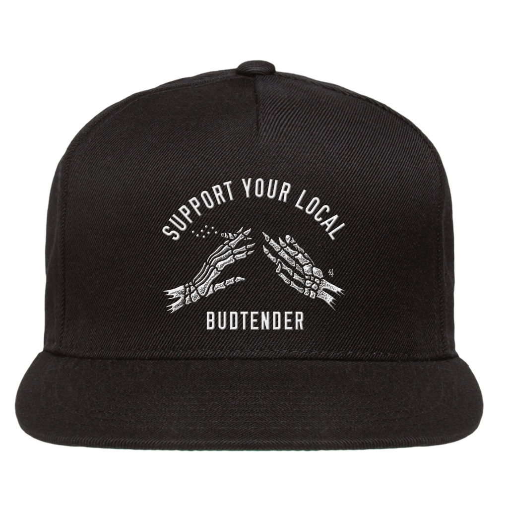 Support Your Local Budtender Snapback Hat - Black | Lurking Class by Sketchy Tank