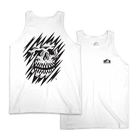 Tear Tank Top - White | Lurking Class by Sketchy Tank
