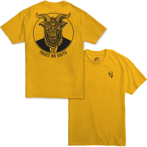 Trust No Suits Gold T-Shirt | Lurking Class by Sketchy Tank