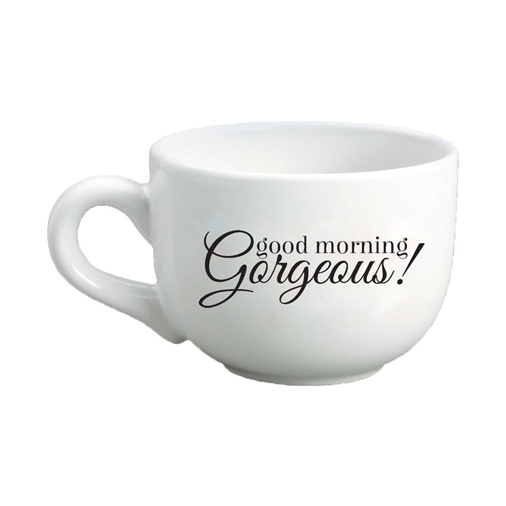 good morning gorgeous cappuccino mug  a cup of quotes - good morning gorgeous cappuccino mug