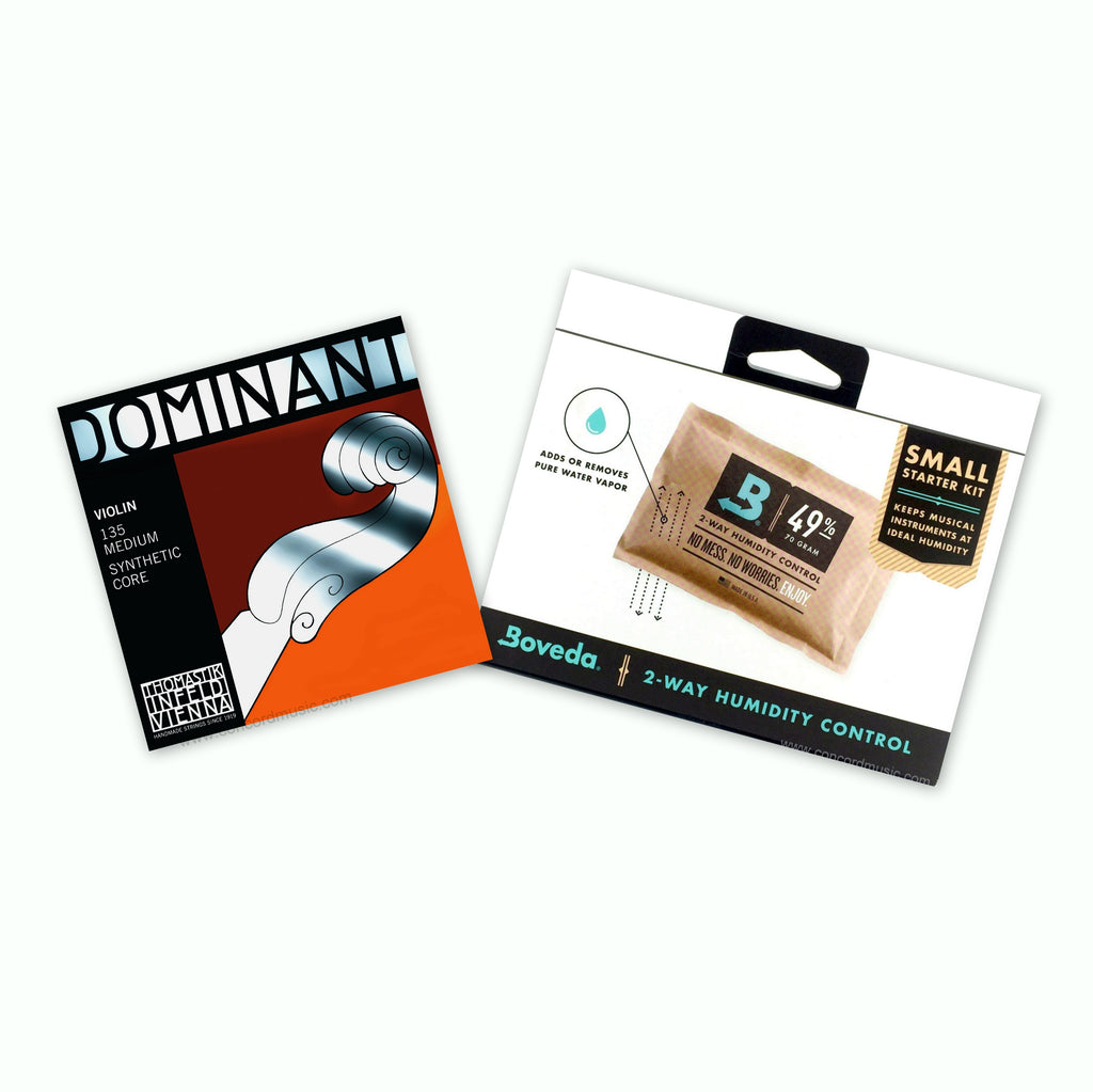 Dominant violin Set & Boveda humidifier Value pack