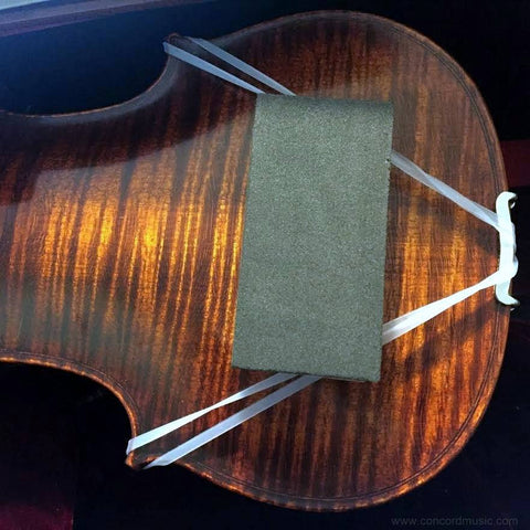 ArcRest shoulder rest on violin, pad center mounted