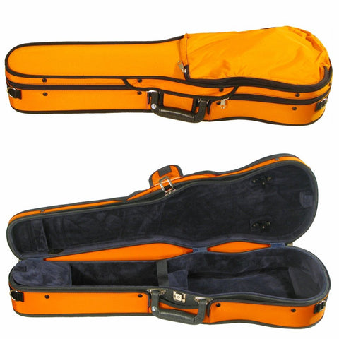 Bobelock Puffy Shaped Violin Case Orange B1007P