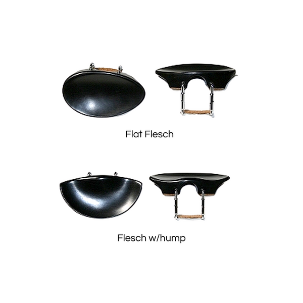 Flesch Violin Chinrest, flat & hump models compared