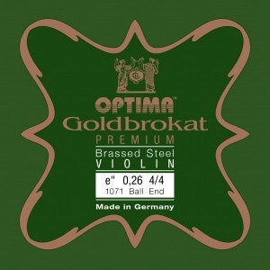 Optima Goldbrokat Premium Brassed Violin E String