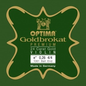 Optima Goldbrokat Premium 24 Carat Gold E String