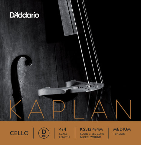D'Addario Kaplan Cello D String KS512
