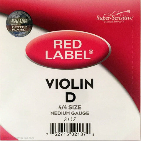 Super-Sensitive Red Label Violin D String