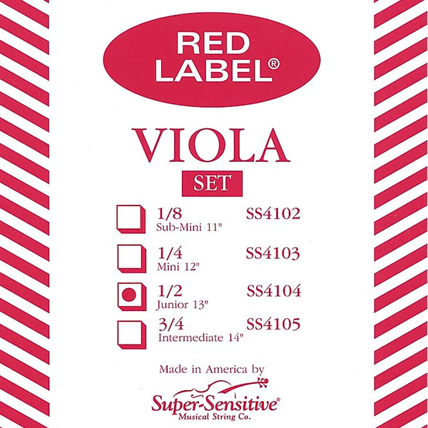 Super-Sensitive Red Label Viola Strings Closeout