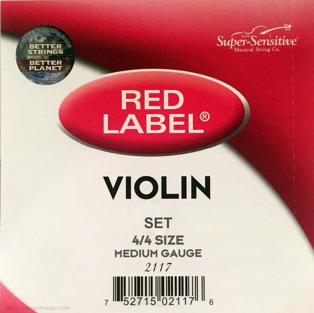 Super-Sensitive Red Label Violin Strings