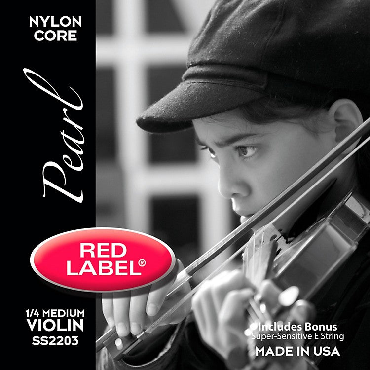 Red Label Pearl Violin Set 1/4 size