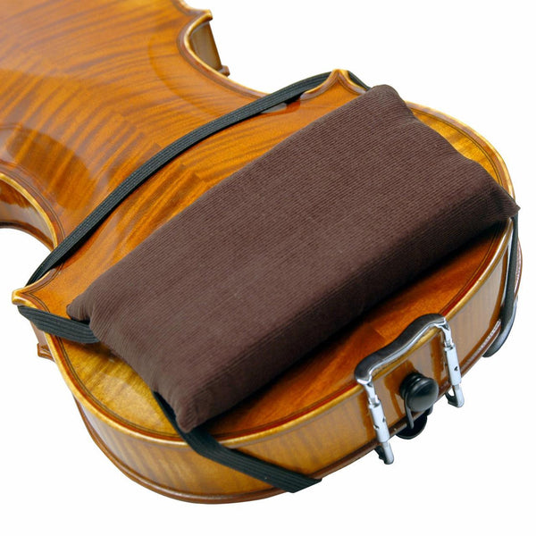 Super-Sensitive Shoulder Rest Pad shown on back of violin