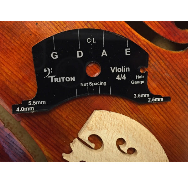 Violin Bridge Template, Triton 6-in-1 shown with markings