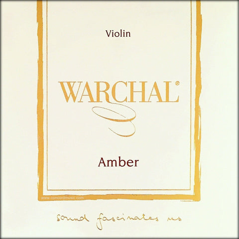 Warchal Amber Violin String Silver D Package Label