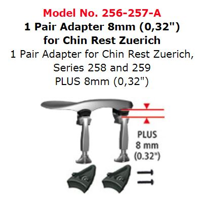 1 Pair Adaptor for Chinrest Zuerich 256-257-A