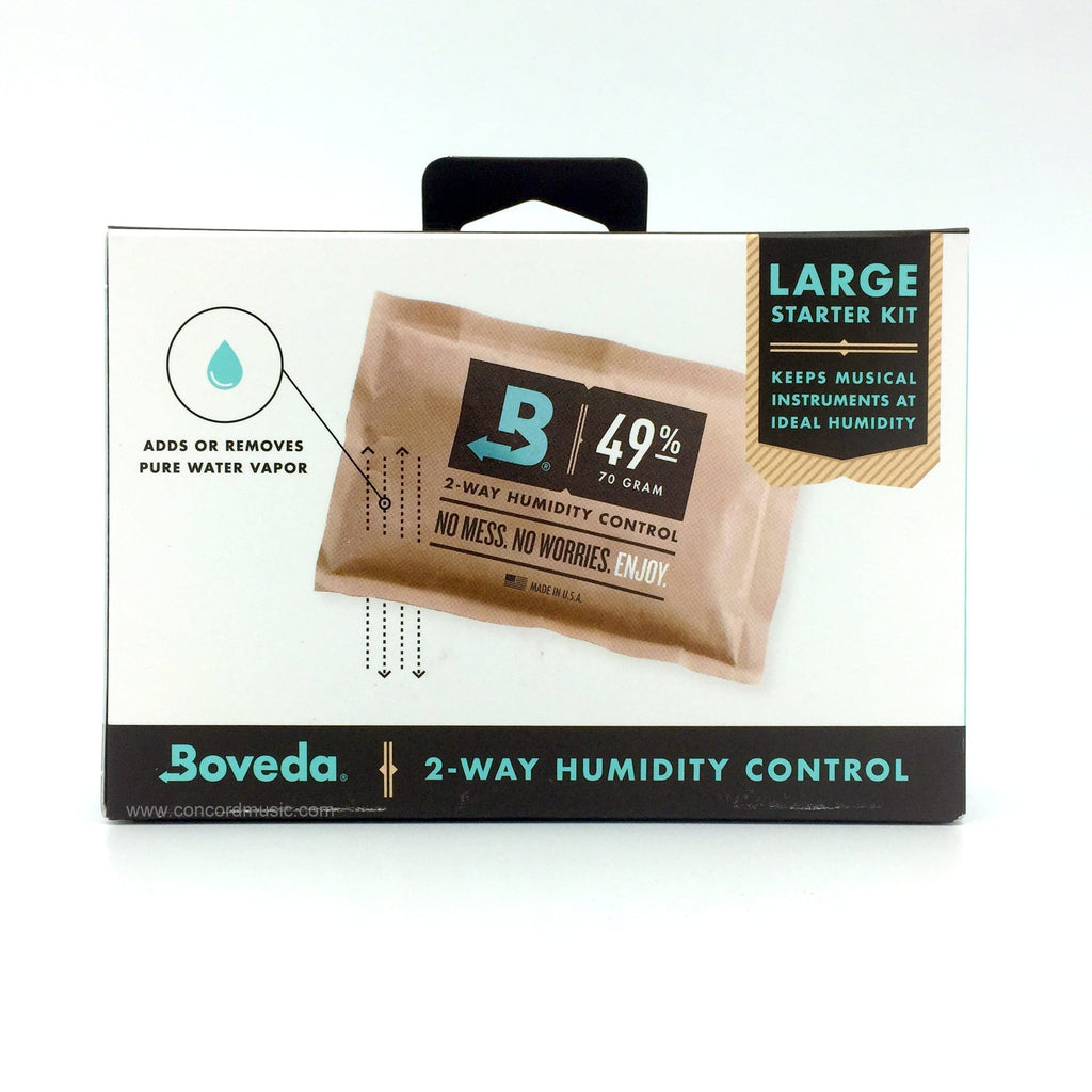 Boveda Cello Humidifier, starter kit front of package/
