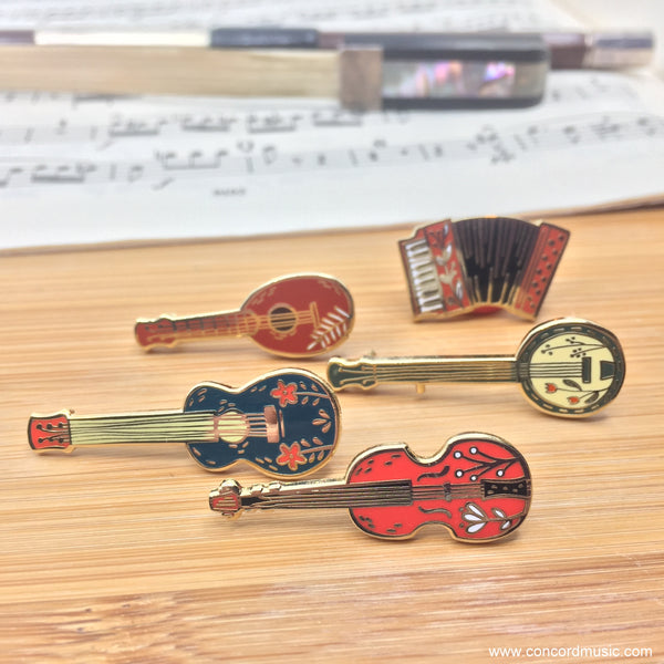 Musical Instruments Enamel Pins