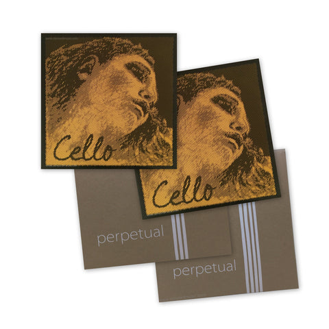 Evah  Pirazzi Gold and Perpetual Cello Strings set