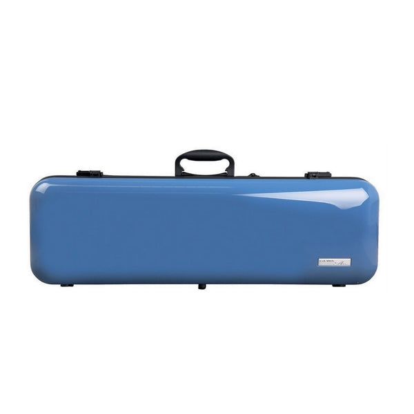 Gewa violin case air 2.1 Blue High Gloss front view