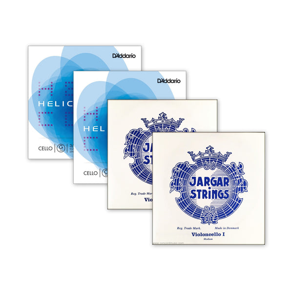 Combo Cello Set Jargar & Helicore Strings
