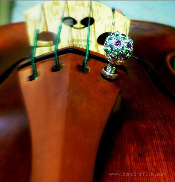 Luxitune violin tuner pave ball silver color