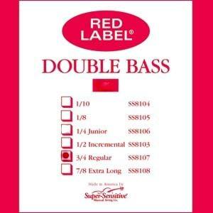 Super-Sensitive Red Label D Bass String