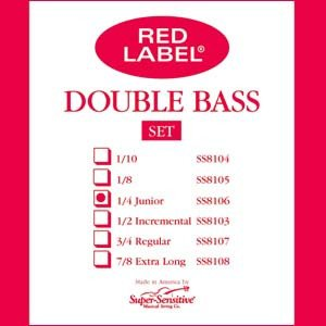 Super-Sensitive Red Label Bass String Set CLOSEOUT