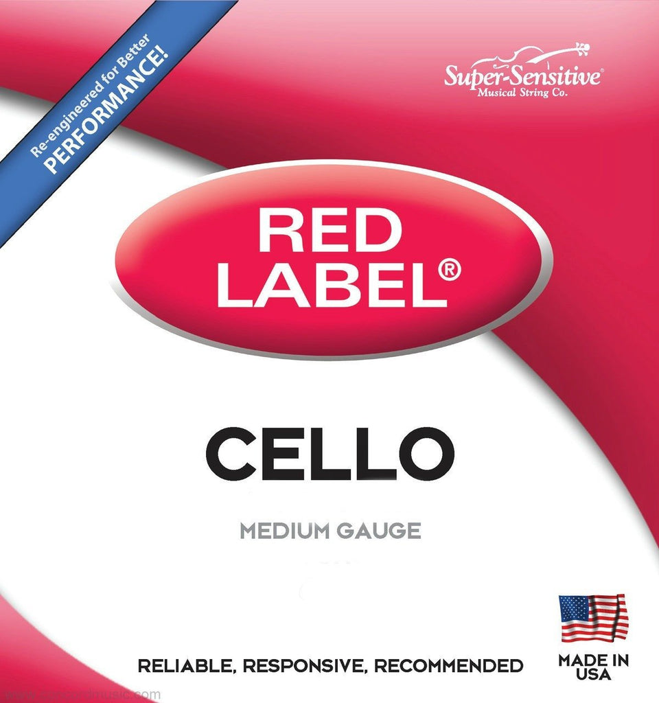 Super-Sensitive Red Label Cello Strings