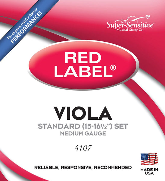 Super Sensitive Red Label Viola Set
