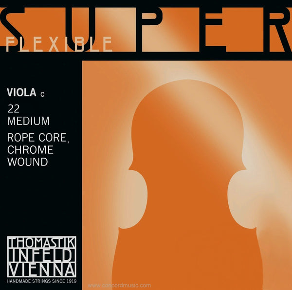 Thomastik Superflexible viola C String chrome No. 22