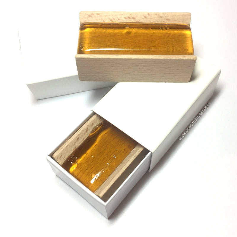 Wood Block wood frame student rosin in white slide box