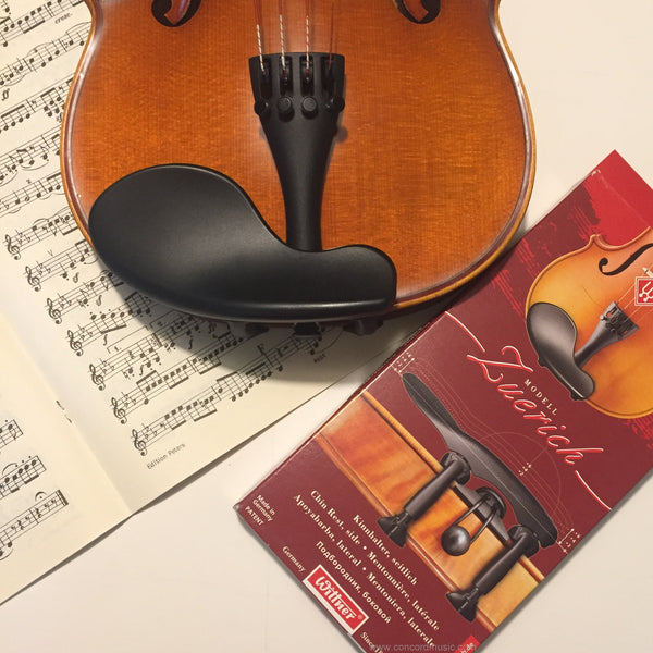 Zuerich violin chinrest installed