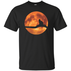 Cat & Harvest Moon—Custom Ultra Cotton T-Shirt