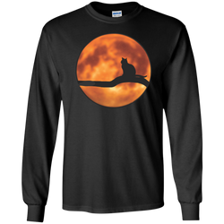 Cat & Harvest Moon—LS Ultra Cotton Tshirt