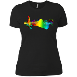Music is Life!—Next Level Ladies' Boyfriend Tee
