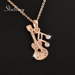 Guitar–1/16th Note Pendant Necklace