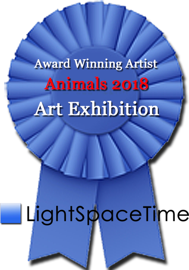 Pride Winning the Blue Ribbon at Light Space Gallery