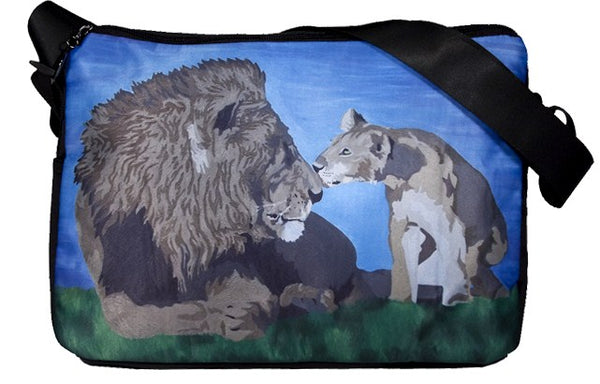 lion messenger bag