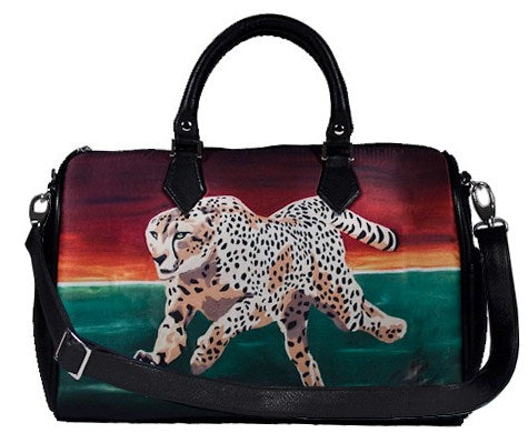 cheetah vegan leather bag