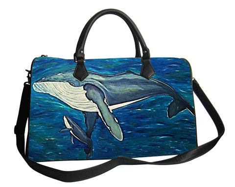 Humpback whale leather bag vegan