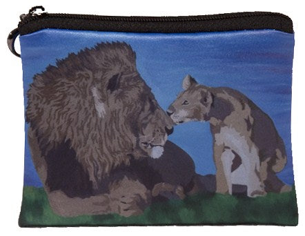 Lion change purse