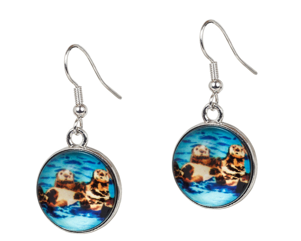 Sea otter earrings
