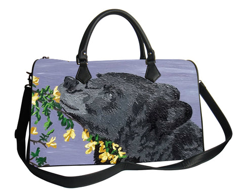 bear vegan leather shoulder bag