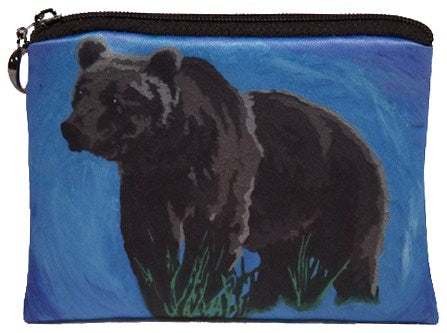 grizzly bear coin purse