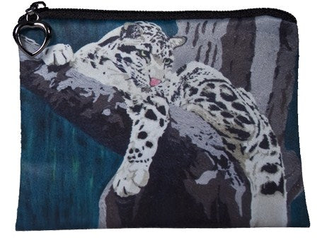 clouded leopard coin purse