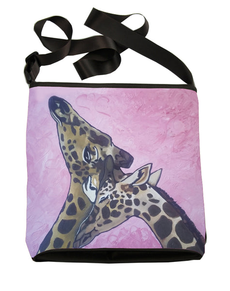 giraffes large cross body bag