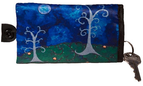 whimsical trees key case