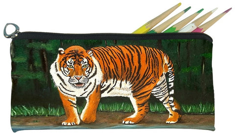 tiger pencil bag